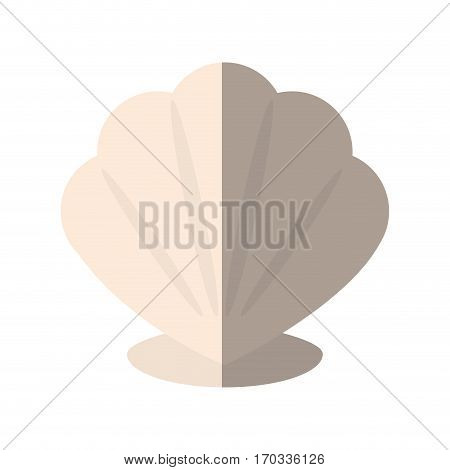 shell icon over white background. colorful design. vector illustration