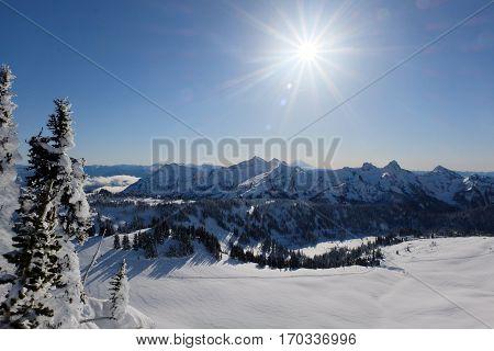 The Tatoosh Range Near Mt Rainier.  Cascade Mountains, Washington