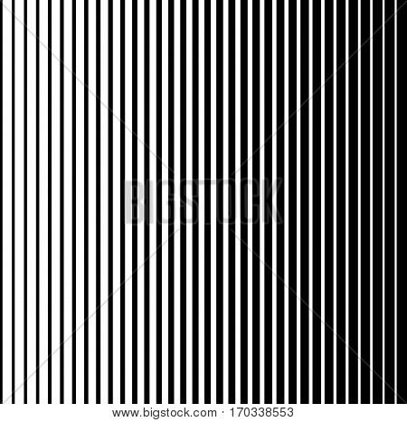 Halftone gradient lines Comic black vertical parallel stripes Fight design Manga or anime speed, vector Black and White Halftone Vertical Stripes Pattern