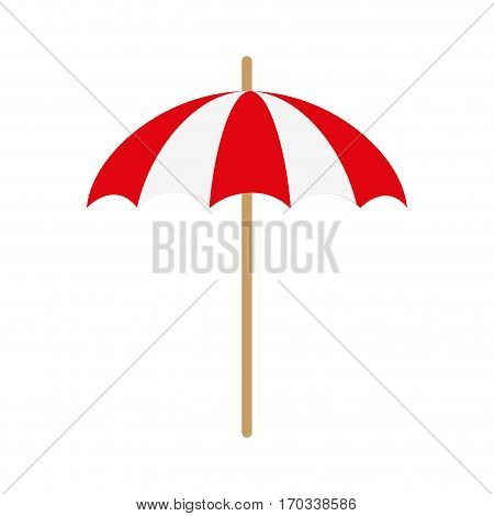 Parasol icon over white background. colorful design. vector illustration