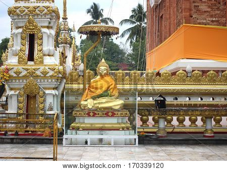 Buddha statue at Nakhon Phanom province in  thailand.