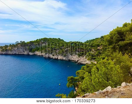 Calanque between Marseille and Cassis, Provence France