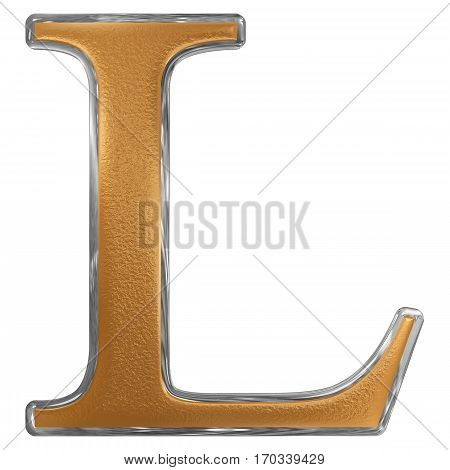 Roman Numeral L, Quinquaginta, 50, Fifty, Isolated On White Background, 3D Render