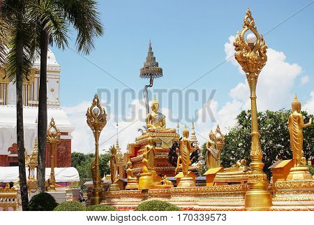 Buddha statue at thatphanom Relics  Nakhon Phanom province in Thailand.
