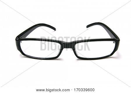 Black glasses isolated on white background