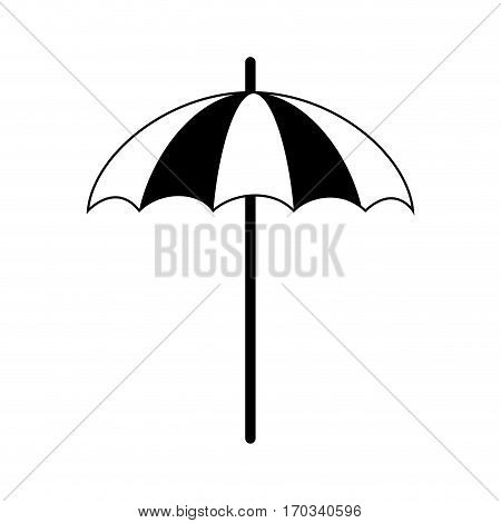 beach parasol icon over white background. vector illustration
