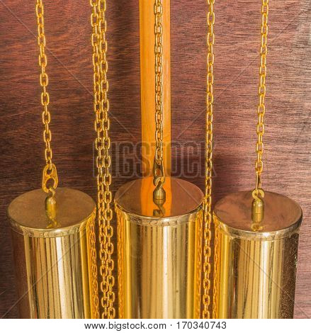gold color of pendulum clock luxury vintage clock