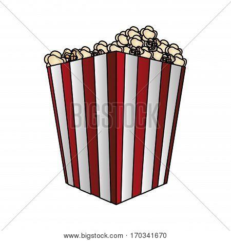 pop corn bucket icon over white background. colorful design. vector illustraiton