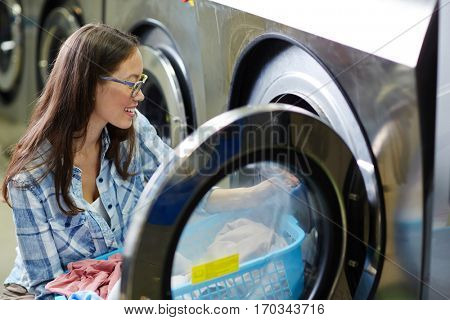 Female in laundry