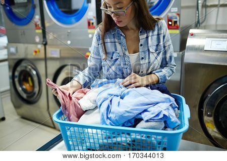Laundress working
