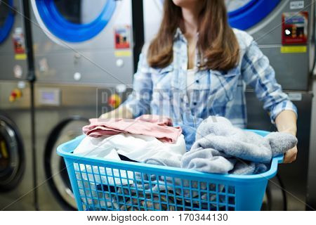 Laundress at work