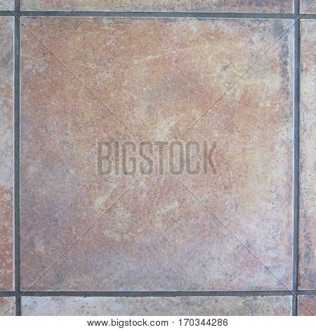 Closeop of Floor tile with grey grouting