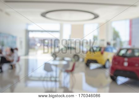 Background Blur Of Car And Showroom.businessmen Blur In The Workplace.abstract Blur Background  Work