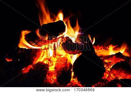 fire, burning, heat, light, firewood, burning, chemical reaction, heat, warm,