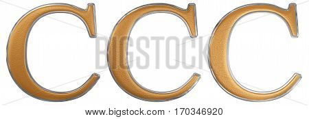 Roman Numeral Ccc, Trecenti, 300, Three Hundred, Isolated On White Background, 3D Render