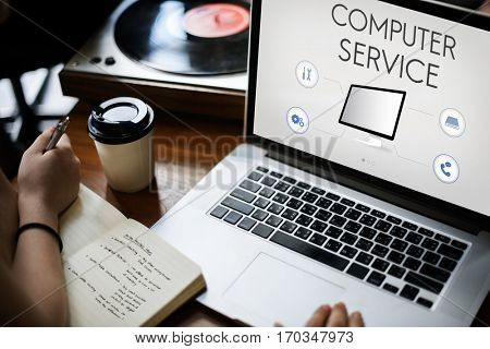 Computer Service Connection Assistance Support Concept