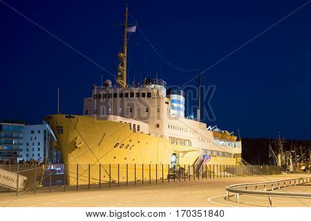 TURKU, FINLAND - AUGUST 27, 2016: Ship -hotel
