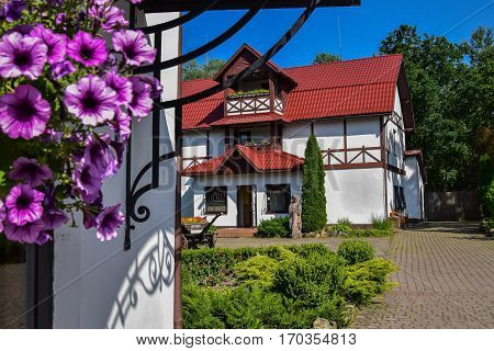 Beautiful landscaping with flowers. Attractions of a beautiful city