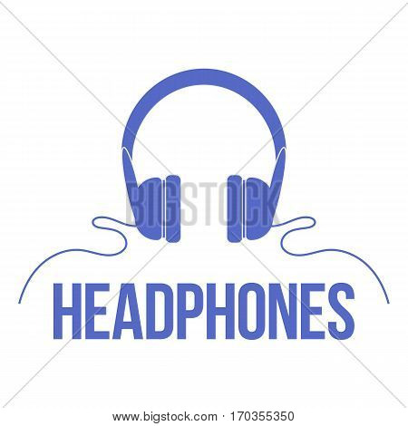 Icon headphones. Vector isolated image. The concept of street art. It can be used as prints, posters, printed materials, videos, mobile apps, web sites and print projects.