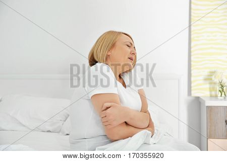 Middle aged woman feeling bad
