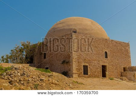 The Mosque Of Sultan Ibrahim Han (former Venetian Cathedral Of San Niccol) In Fortezza Of Rethymno.