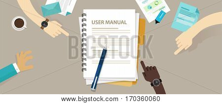user guide manual instruction book document paper reference vector