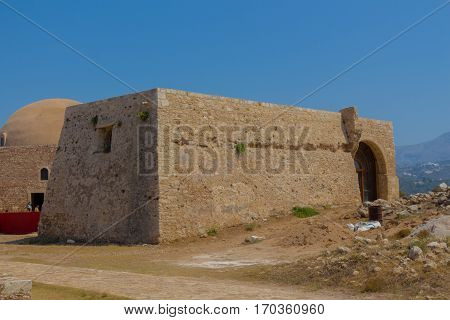 Rethymno, Greece - July  30, 2016: The Residence Of The Rector In Fortezza Of Rethymno.