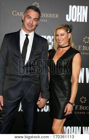 LOS ANGELES - JAN 30:  Chad Stahelski, Heidi Moneymaker at the