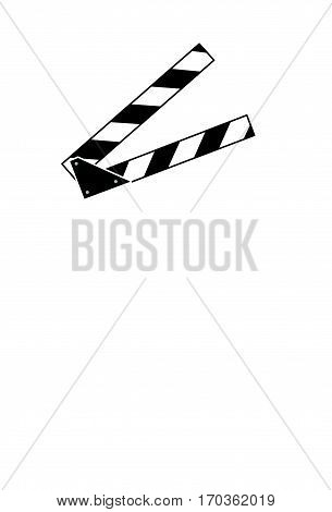 Clapperboard isolated on White Background vector illustration