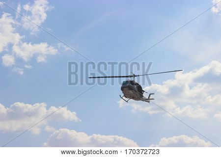 Helicopter agency military is rotary wing aircraft.