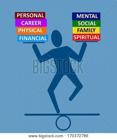 Balance in life concept