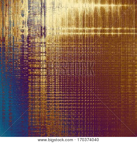 Sharp textured background, aged vintage backdrop with grungy style elements and different color patterns: yellow (beige); brown; blue; red (orange); purple (violet); pink