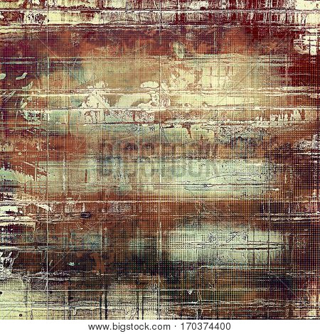 Scratched vintage colorful background, designed grunge texture. With different color patterns: yellow (beige); brown; gray; red (orange)