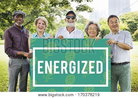 Boost Energized Pumped Ready Graphics poster