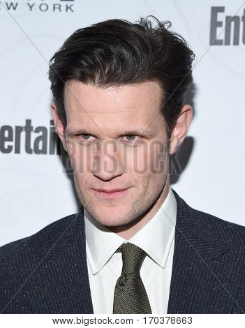 LOS ANGELES - JAN 28:  Matt Smith {Object} arrives to the Entertainment Weekly Pre Sag Awards Celebration on January 28, 2017 in Hollywood, CA