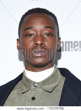 LOS ANGELES - JAN 28:  Ashton Sanders {Object} arrives to the Entertainment Weekly Pre Sag Awards Celebration on January 28, 2017 in Hollywood, CA