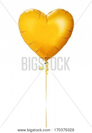 Heart balloon on white background -Clipping path