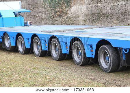 Long Lorries For Exceptional Transport With Twentyfour Wheels