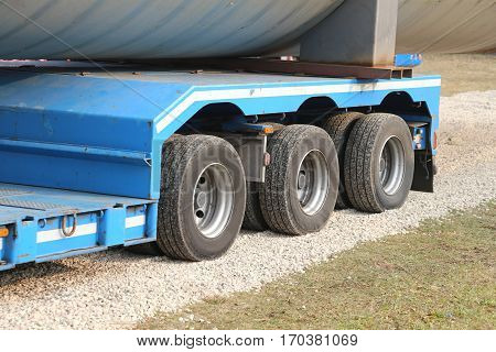 Sturdy Wheels Of Large Trucks For Special Transport