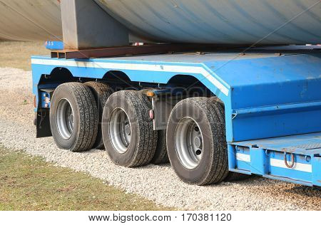 Lorries For Exceptional Transport With Many Wheels