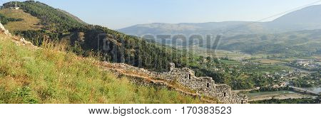 View from Kala fortless over Berat on Albania