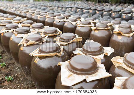 Storage of Vinegar in Barrel