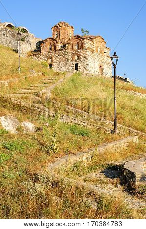 The Orthodox Church Of Holy Trinity At Kala Fortless Over Berat