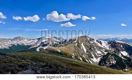 Colorado mountains from Cottonwood Pass. Denver. Colorado. United States.