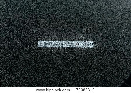 Asphalt Texture. New asphalt texture with white dashed line.