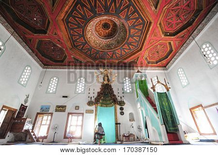Berat, Albania - 23 January 2014: Sultan Mosque of Berat on Albania