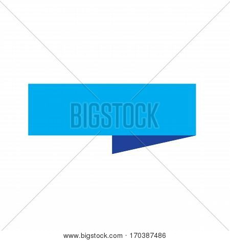 blue ribbon banner on white background. blue ribbon banner sign.