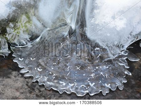 natural ice shapes South Bohemia Czech Republic