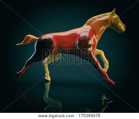 Horse - 3D Illustration