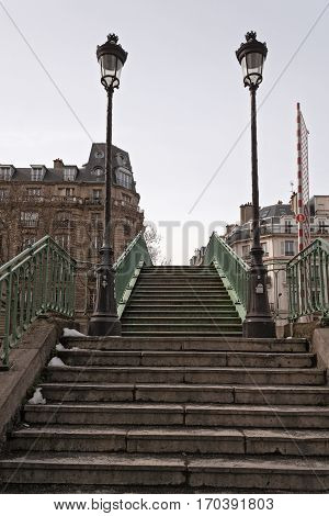 Footbridge over the Canal Saint-Martin, Paris, France